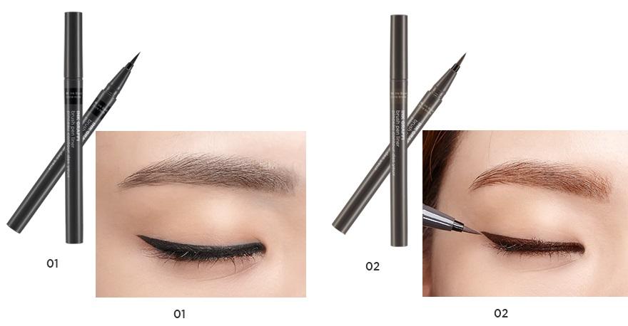 Kết quả hình ảnh cho The Face Shop Ink Graffi Brush Pen Liner